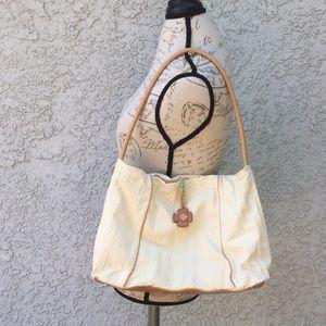 White Cream Beige Simple Basic Shoulder bag purse